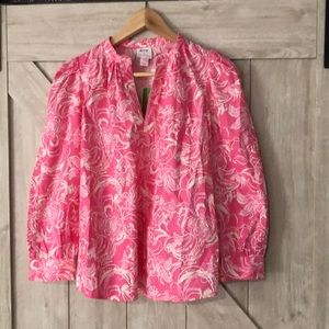 goop X Lilly Pulitzer Paltrow Blouse